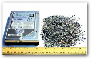 Shredded Hard Drive
